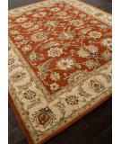 RugStudio presents Rugstudio Sample Sale 82227R Red Oxide / Sand Hand-Tufted, Better Quality Area Rug
