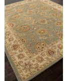 RugStudio presents Rugstudio Sample Sale 82229R Sea Green/Light Gold Hand-Tufted, Better Quality Area Rug