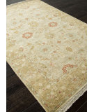 RugStudio presents Rugstudio Sample Sale 103782R Light Gold Hand-Knotted, Best Quality Area Rug