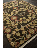 RugStudio presents Addison And Banks Hand Knotted Abr1331 Deep Charcoal Hand-Knotted, Best Quality Area Rug