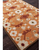 RugStudio presents Rugstudio Sample Sale 82244R Pumpkin/Tobacco Hand-Tufted, Better Quality Area Rug