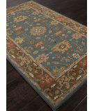 RugStudio presents Addison And Banks Hand Tufted Abr1359 Teal Blue Hand-Tufted, Good Quality Area Rug