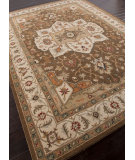 RugStudio presents Addison And Banks Hand Tufted Abr0573 Indian Brown / Cloud White Hand-Tufted, Better Quality Area Rug