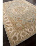 RugStudio presents Addison And Banks Hand Tufted Abr0574 Blue Surf / Cloud White Hand-Tufted, Better Quality Area Rug