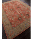 RugStudio presents Addison And Banks Hand Tufted Abr0575 Orange Rust/Gold Brown Hand-Tufted, Better Quality Area Rug