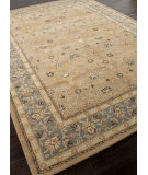 RugStudio presents Rugstudio Sample Sale 82263R Tan / Blue Hand-Tufted, Better Quality Area Rug