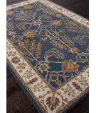 RugStudio presents Addison And Banks Hand Tufted Abr0591 Indigo/Dark Ivory Hand-Tufted, Better Quality Area Rug