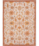 RugStudio presents Addison And Banks Hand Tufted Abr0595 Antique White / Orange Rust Hand-Tufted, Better Quality Area Rug