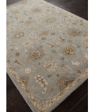 RugStudio presents Rugstudio Sample Sale 82282R Light Blue/Soft Gold Hand-Tufted, Better Quality Area Rug