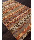 RugStudio presents Rugstudio Sample Sale 82289R Tobacco/Sea Green Hand-Tufted, Better Quality Area Rug