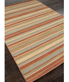 RugStudio presents Addison And Banks Flat Weave Abr0615 Sea Green / Rust Flat-Woven Area Rug