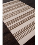 RugStudio presents Addison And Banks Flat Weave Abr0617 White Ice / Cocoa Brown Flat-Woven Area Rug