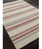 RugStudio presents Addison And Banks Flat Weave Abr0618 White Ice / Porcelain Blue Flat-Woven Area Rug
