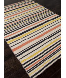 RugStudio presents Addison And Banks Flat Weave Abr0620 Ebony / White Ice Flat-Woven Area Rug