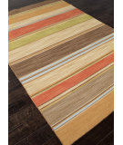 RugStudio presents Addison And Banks Flat Weave Abr0622 Poppy / Lemon Flat-Woven Area Rug