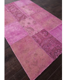 RugStudio presents Addison And Banks Hand Knotted Abr1403 Fuchsia Hand-Knotted, Good Quality Area Rug