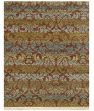 RugStudio presents Addison And Banks Vestiges Lust Wood Brown Hand-Knotted, Good Quality Area Rug
