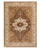 RugStudio presents Addison And Banks Poeme Tac-603 Indian Brown / Dark Ivory Hand-Tufted, Good Quality Area Rug