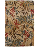 RugStudio presents Addison And Banks Blue Wild Kingdom Medium Gold Hand-Tufted, Good Quality Area Rug