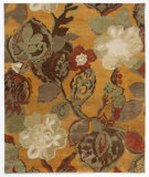 RugStudio presents Addison And Banks Triumph Tra-310 Amber Gold / Gray Brown Hand-Tufted, Good Quality Area Rug