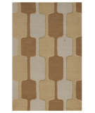 RugStudio presents Addison And Banks Traverse Rio Medium Gold Hand-Tufted, Good Quality Area Rug