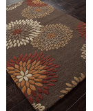 RugStudio presents Addison And Banks Hand Tufted Abr0693 Dark Brown Hand-Tufted, Good Quality Area Rug