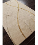 RugStudio presents Addison And Banks Hand Tufted Abr0694 Soft Gold Hand-Tufted, Good Quality Area Rug