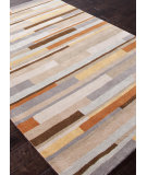 RugStudio presents Addison And Banks Hand Tufted Abr0697 Beige / Pumpkin Hand-Tufted, Good Quality Area Rug