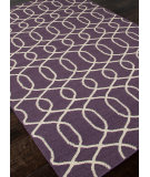 RugStudio presents Addison And Banks Flat Weave Abr0475 Continental Plum / Antique White Flat-Woven Area Rug