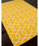 RugStudio presents Addison And Banks Flat Weave Abr0485 Mango / White Flat-Woven Area Rug