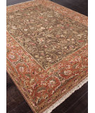 RugStudio presents Addison And Banks Hand Knotted Abr1485 Cocoa Brown Hand-Knotted, Good Quality Area Rug