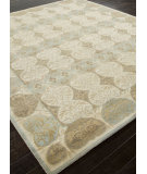 RugStudio presents Addison And Banks Hand Knotted Abr1497 Cloud White Hand-Knotted, Good Quality Area Rug