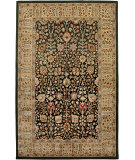 RugStudio presents Amer Roshni Abhati Black / Gold Hand-Tufted, Best Quality Area Rug