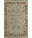 RugStudio presents Amer Ghazni Nawa Light Blue / Brown Hand-Tufted, Good Quality Area Rug