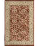 RugStudio presents Amer Ghazni Jaghuri Red / Gold Hand-Tufted, Good Quality Area Rug