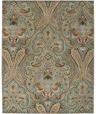 RugStudio presents Amer Ghazni Pana Ice Blue / Sea Blue Hand-Tufted, Good Quality Area Rug