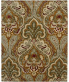 RugStudio presents Amer Ghazni Pana Pumpkin / Olive Hand-Tufted, Good Quality Area Rug