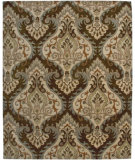 RugStudio presents Amer Ghazni Nani Cocoa Brown / Beige Hand-Tufted, Good Quality Area Rug