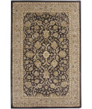 RugStudio presents Amer Ghazni Giro Charcoal / Cream Hand-Tufted, Good Quality Area Rug