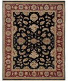 RugStudio presents Amer Luxor Aswan Black Hand-Knotted, Good Quality Area Rug