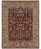 RugStudio presents Amer Dimora Halifax Red / Gold Hand-Knotted, Best Quality Area Rug