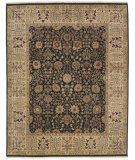 RugStudio presents Amer Dimora Halifax Ebony / Beige Hand-Knotted, Best Quality Area Rug