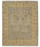 RugStudio presents Amer Dimora Halifax Mint / Gold Hand-Knotted, Best Quality Area Rug
