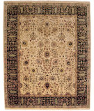 RugStudio presents Amer Dimora Halifax Gold / Ebony Hand-Knotted, Best Quality Area Rug