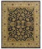 RugStudio presents Amer Dimora Chesterfield Ebony / Gold Hand-Knotted, Best Quality Area Rug