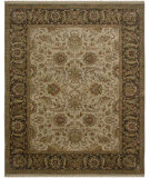RugStudio presents Amer Dimora Manchester Cream / Chocolate Hand-Knotted, Good Quality Area Rug