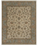 RugStudio presents Amer Tuscan Marliana Beige / French Blue Hand-Knotted, Good Quality Area Rug
