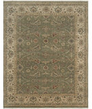 RugStudio presents Amer Tuscan Sillano Olive Green / Beige Hand-Knotted, Good Quality Area Rug