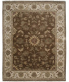 RugStudio presents Amer Tuscan Chianni Chocolate / Ivory Hand-Knotted, Good Quality Area Rug