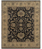 RugStudio presents Amer Antiquity Pompeii Ebony / Gold Hand-Knotted, Good Quality Area Rug